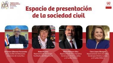 Espacio de presentación de la sociedad civil