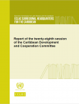 Cover Report of the twenty-eighth session of the Caribbean Development and Cooperation Committee